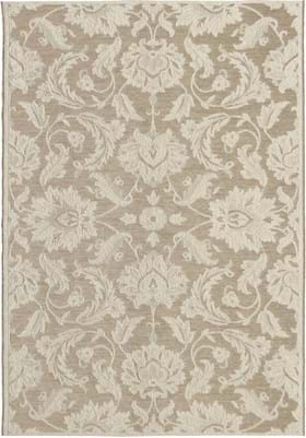 Orian Rugs Textured Damask 3917 Wool Mink