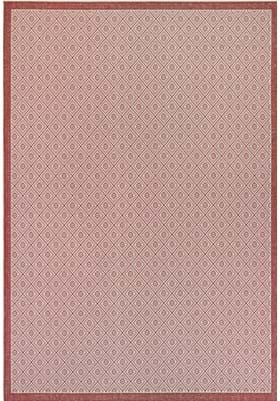 Couristan 7949 Sea Pier 1561 Sand Maroon