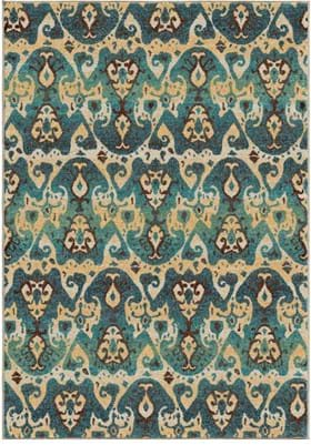 Orian Rugs Turkman 2830 Blue