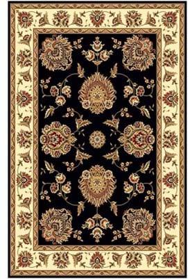 KAS Floral Mahal 7339 Black Ivory