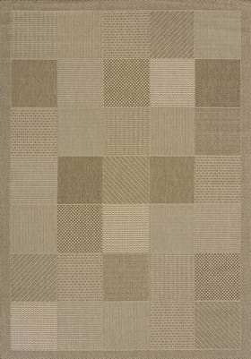 United Weavers 101-40150 Patio Block Brown