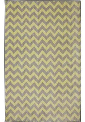American Rug Craftsmen Fun Lines 12011 Yellow 432