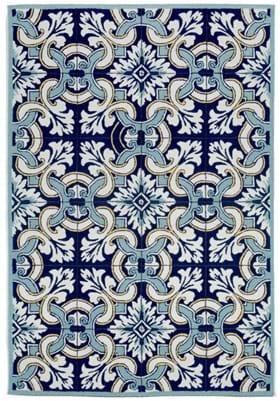 Trans Ocean Floral Tile 225333 Navy