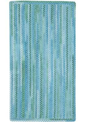 Capel Waterway Blue Vertical Stripe Rectangle