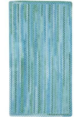Capel Waterway Blue Vertical Stripe Rectangle