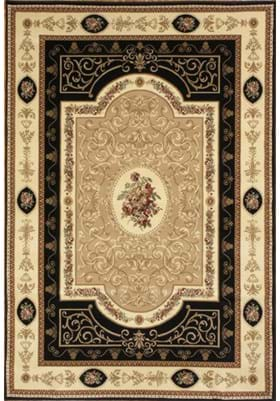 Rugs America 1365 French Aubusson Black