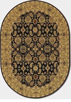 Couristan 8132 All Over Vase 2606 Black Deep Maple