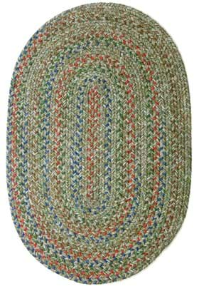 Rhody Rug SO-65 Moss Green Multi