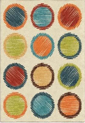 Orian Rugs Circle Sketch 3113 Multi