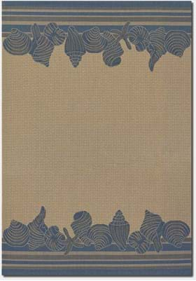 Couristan 3080 Shoreline 6813 Cream Blue