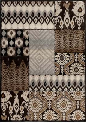 Central Oriental Tribal Quilt 9228 Charcoal