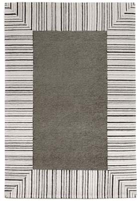 Trans Ocean Pin Stripe Border 2255447 Grey