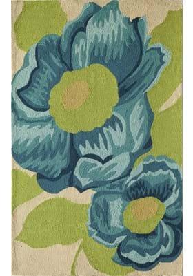 Rugs America 3410A Blue Camellia
