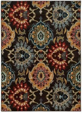 Oriental Weavers 6369D Charcoal Multi