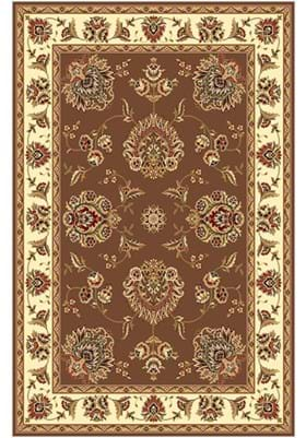KAS Floral Mahal 7341 Plum Ivory