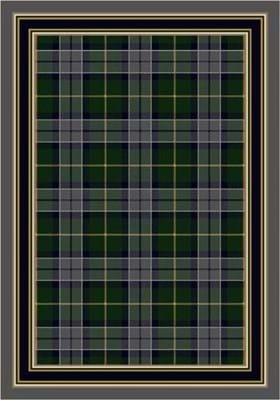 Milliken Magee Plaid 8473 Emerald Lapis 7006