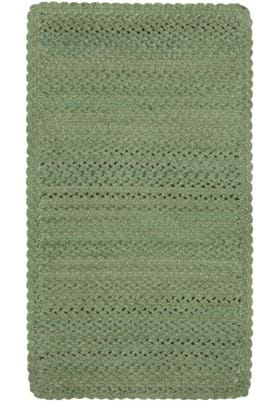 Capel Vivid Green Cross Sewn Rectangle