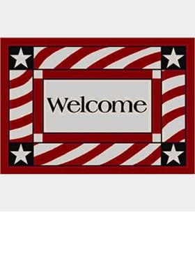 Milliken Patriotic Welcome 7303 Opal 2000