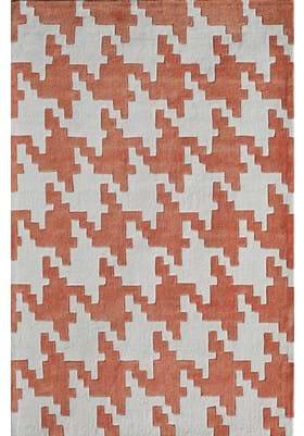 Rugs America 6225B Houndstooth Rust