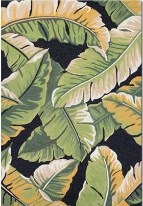Couristan 4972 Rainforest 4000 Forest Green Black