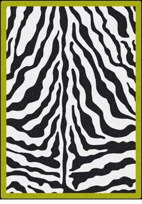 Milliken Zebra Glam 6831 Citrus Green 1