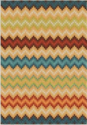 Orian Rugs Candy Chevron 2819 Multi