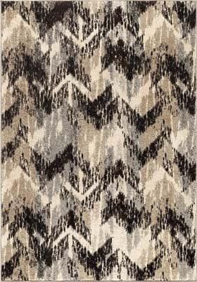 Orian Rugs Distressed Chevron 4303 Gray