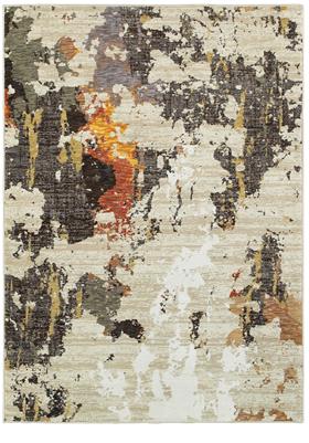 Oriental Weavers 7770J Beige Charcoal