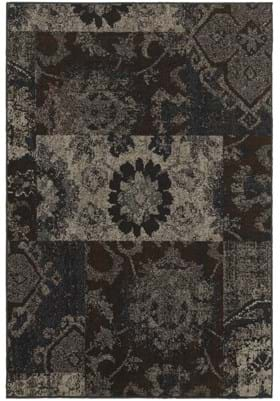 Oriental Weavers 4712C Charcoal Teal