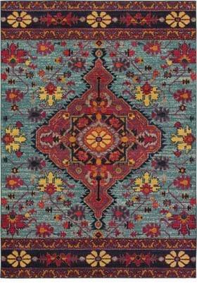 Oriental Weavers 8222L Blue Pink