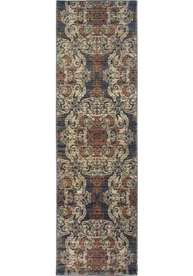Oriental Weavers 8022K Blue Rust