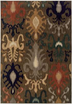 Oriental Weavers 3830 Brown Navy