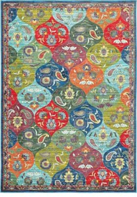 Oriental Weavers 9648S Multi Blue