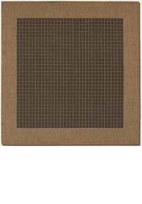 Couristan 1005 Checkered Field 2000 Black Cocoa