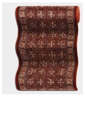Couristan 0408 Pazyrk B001A Antique Red