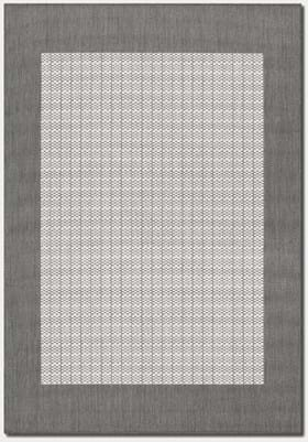 Couristan 1005 Checkered Field 3012 Grey White