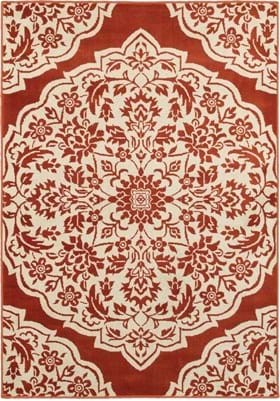 Oriental Weavers 7422H Rust Ivory