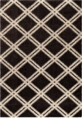 Orian Rugs Concentric Diamonds 3628 Black