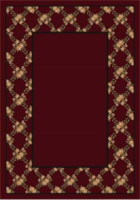 Milliken Rose Bower 8477 Cranberry 10806