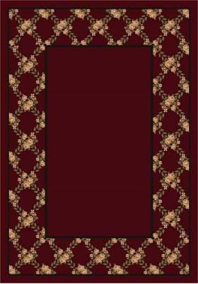 Milliken Rose Bower 8477 Cranberry 10806