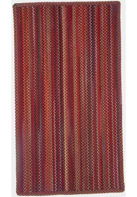 Capel Portland Red Vertical Stripe Rectangle