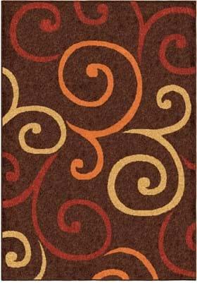 Orian Rugs Semi Swirls 2324 Brown