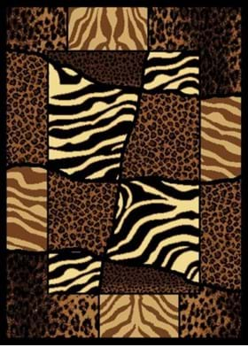 United Weavers 910-04450 African Montage Brown