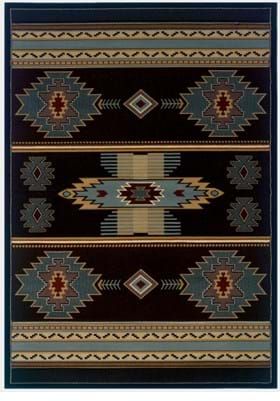 United Weavers 511-25266 Native Canvas Smoke Blue