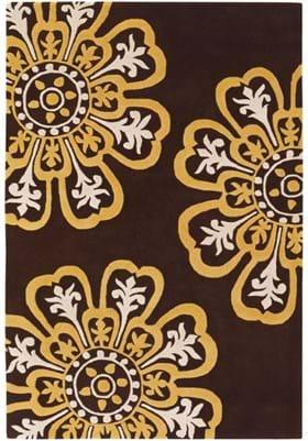 Chandra SEE-18200 Brown Yellow Cream