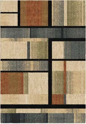 Orian Rugs 4415 Mid Century Blocks Sunshine