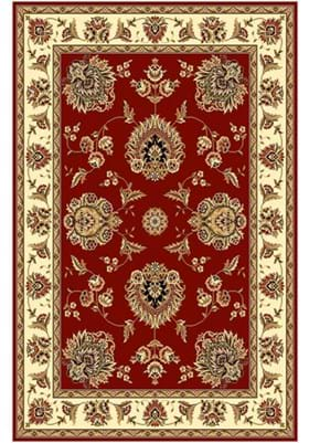 KAS Floral Mahal 7340 Red Ivory