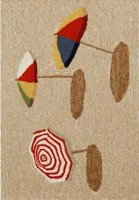Trans Ocean Beach Umbrella 140912 Natural