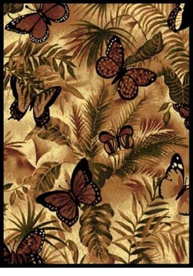 United Weavers 910-01330 Butterfly Jungle Burgundy