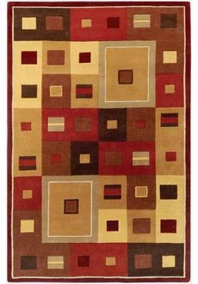 Surya FM-7014 Burgundy Gold Brown
